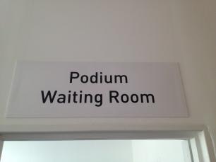 Podium-Warteraum